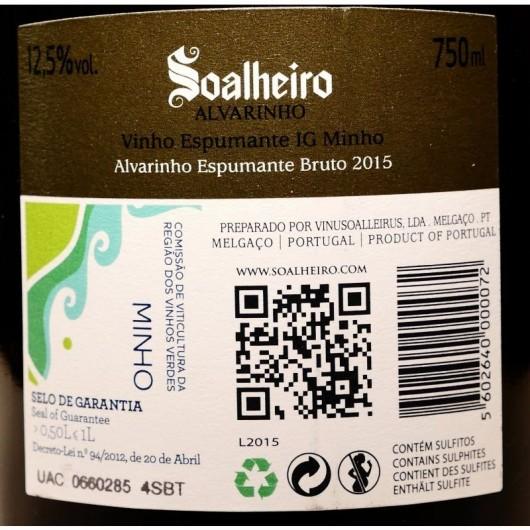 ESPUMANTE ALVARINHO SOALHEIRO RESERVA BRUTO