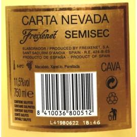 ESPUMANTE FREIXENET CARTA NEVADA RESERVA MEIO SECO