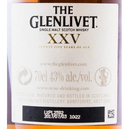 WHISKY GLENLIVET 25 ANOS