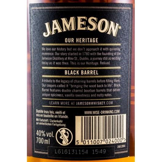 WHISKY JAMESON BLACK BARREL
